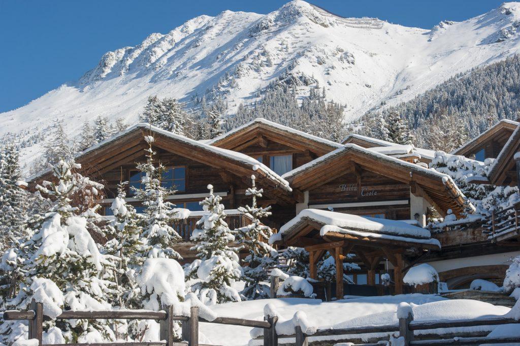 Wintersport chalet Zwitserland