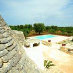 Villa Trullo Pace - uitzicht-zwembad