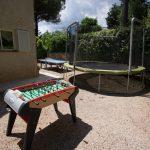 Villa Mouans-Sartoux - trampoline-tafelvoetbal
