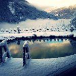 Chalet Wooden Residence - zwemvijver winter