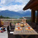 Chalet D'Arby - balkon zomer