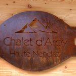 Chalet D'Arby - naambord chalet